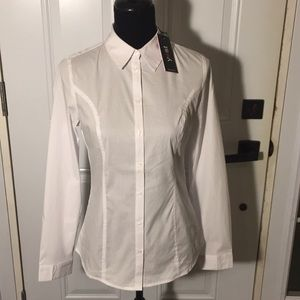 Yest Yade 29421B White Women's Blouse Shirt Sz 16W